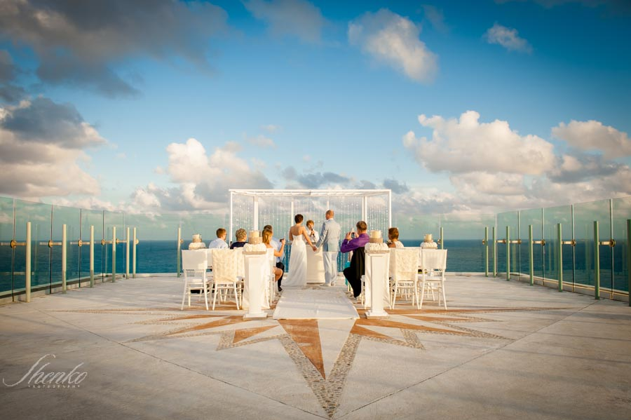 Beach Palace Rooftop Wedding in Cancun J + S