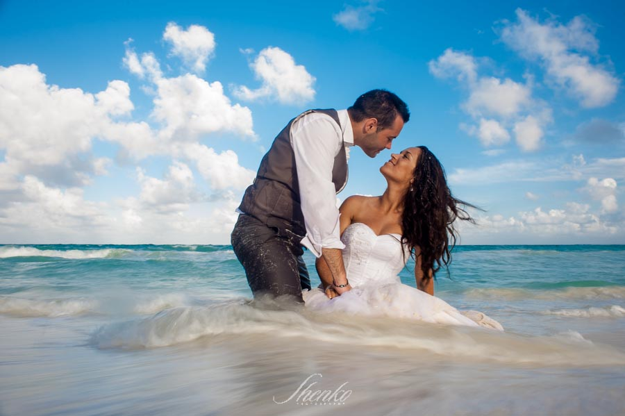 Playa del Secreto catholic wedding ceremony A + N