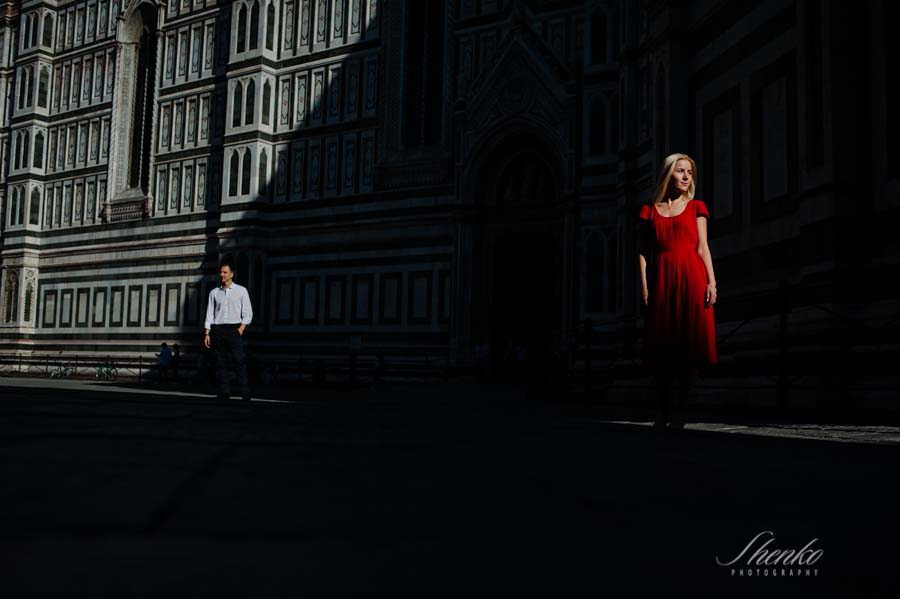 Original e-session picture in Florence Cathedral