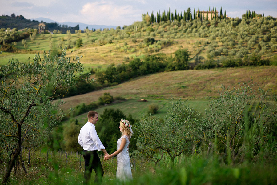 Destination wedding in La Borriana, Tuscany, Italy A + A