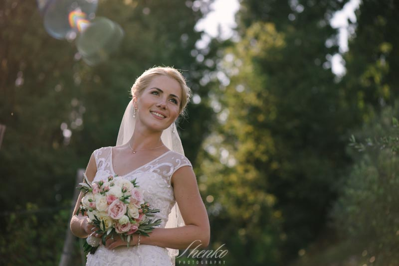 young and amazing bride portrait