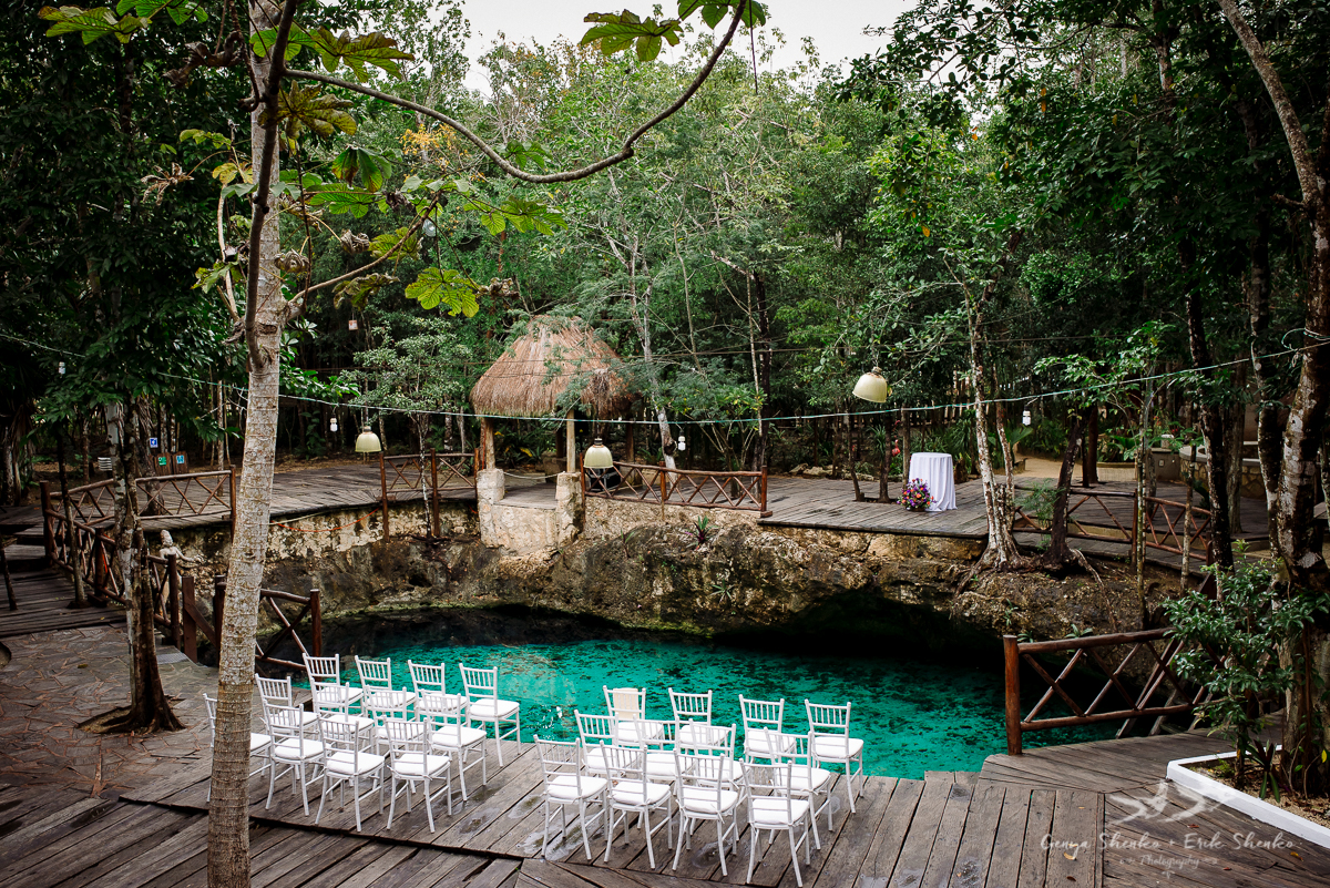 A perfect cenote zazilha wedding in tulum