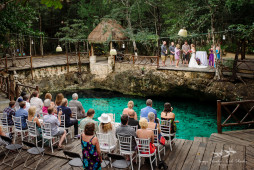 Off Resort Wedding in Tulum | Cenote Zazil-Ha Wedding Ceremony | C + J