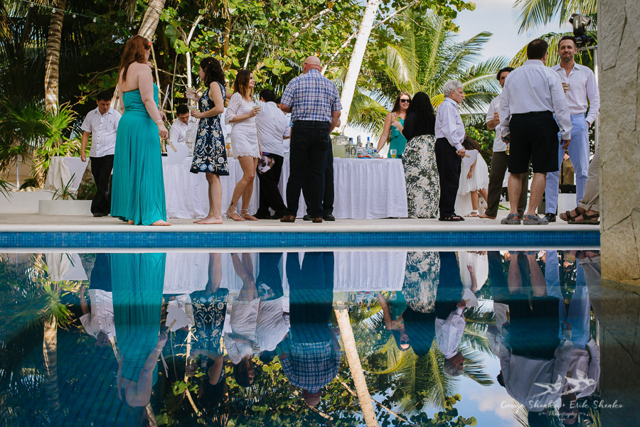 cocktail hour before the ceremony in Akumal