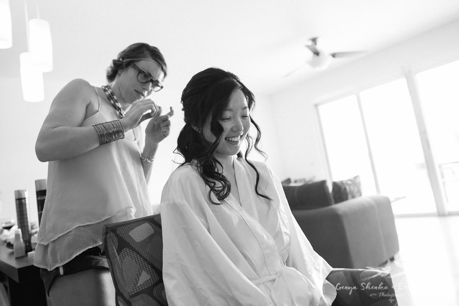destination wedding in mexico bride is getting ready