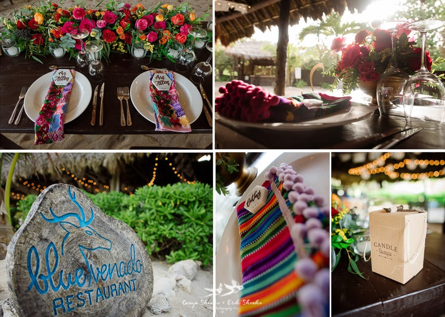 Details at blue venado wedding venue