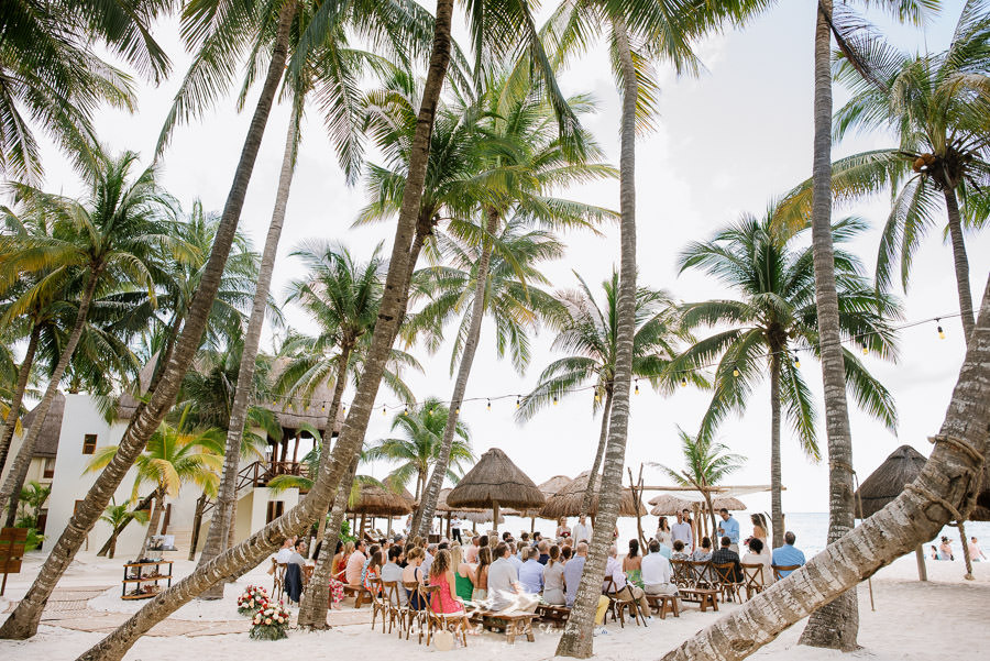 Wedding ceremony at Mahekal Beach Resort Playa del Carmen